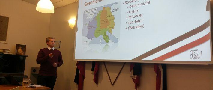 Die Sorben – ein fast vergessenes Volk in Deutschland − Burschungsvortrag von Sebastian Zander