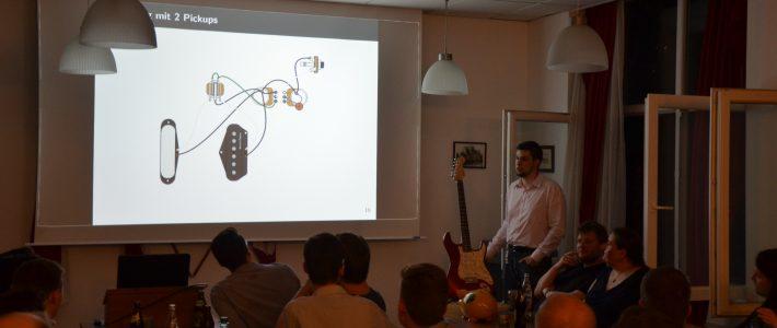 Gitarrenverdrahtung – Ein Burschungsvortrag von Lucas Vienna